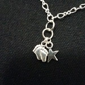 Jewelry - Footprint Under the Moon and Stars Necklace